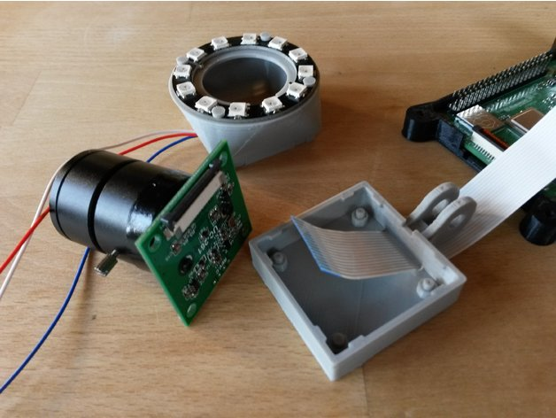 OctoLapse camera holder with NeoPixel light by lynspm