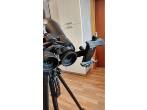 Phone mount for binoculars