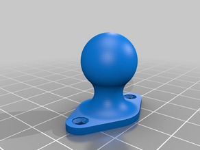 Articulated ball fan for Prusa I3A Geeetech