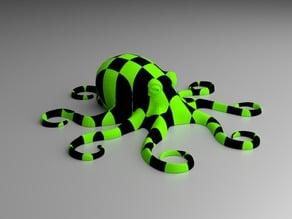 Multi-Colored Checkered OCTOPUS
