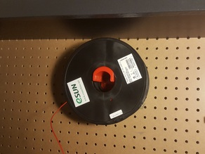 Pegboard Filament Spool Holder