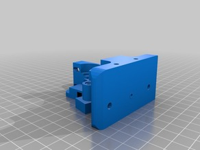 Cuerpo del extrusor mejorado para filamentos flexibles 1.75mm -impresora Prusa i3- Remix del Greg's Wade reloaded