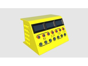 ATX Power Supply with volt-amper meters