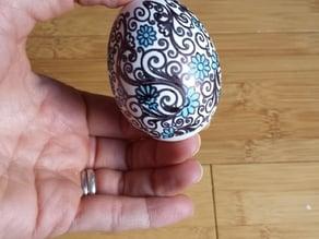 Paisley Flower Egg