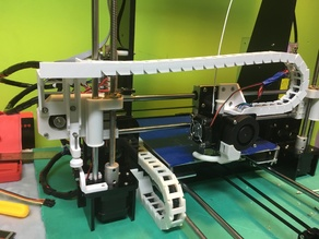 Anet a8 X-axis cable chain with z end-stop