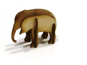 LaserCut - 3D Puzzle Elephant