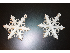 Snowflake Ornament Earring