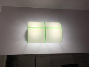 Bathroom light fixture, wall mount