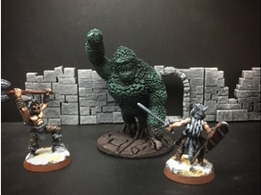 Topiary Golem (Ape) (28mm/Heroic scale)