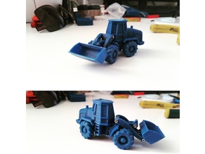 Easy to print Generic Front Loader (esc: 1:100 or HO Scale)