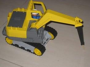 Hydraulic breaker for Duplo crawler excavator