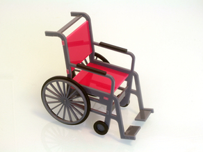 1:12 Scale Wheelchair. Laser cutting files.