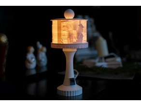Miniature Standard-Lamp Lithophane