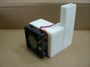 For the UP3D Mini. Injector stepper motor cooler for PLA filament use.