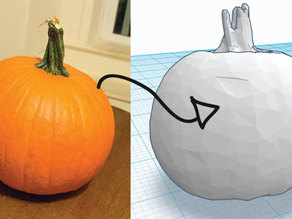 3D Scanned Pumpkin