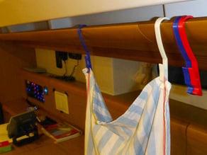 Handrail hanger peg for boat
