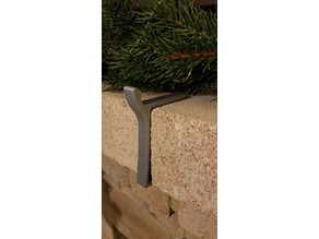Hook for Stocking on Brick Mantle