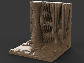 Caverns Dungeon Tiles - Wall Section
