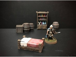 Delving Decor: Inn Bed (28mm/Heroic scale)