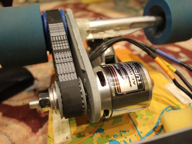 Electric Longboard Brushless Motor Mount By Robertmaks
