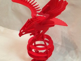 Printed - 3D Puzzle Eagle