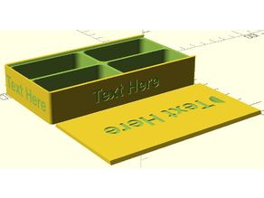 Sliding Lid Box With Text