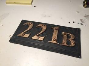 221B Baker Street Door Panel