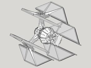 TIE Defender Laser Cut