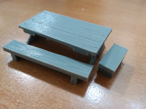 Table and bench - 28 mm