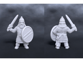 Dwarven warrior with sword and shield