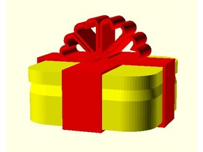 Customized Gift Box with Ribbon for Vase mode