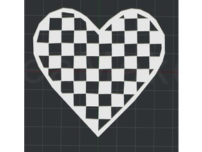 Heart - Checker Pattern