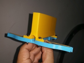 Easy one piece printable crossbow with magazine.