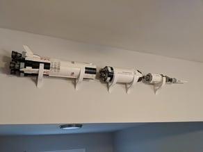 Lego Saturn 5 Wall Mount