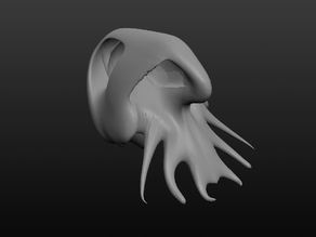 Alien Squid Skull