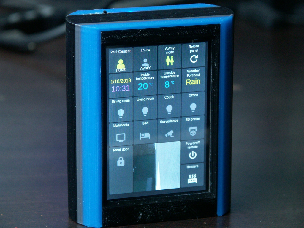 Pimote - Home Assistant Dashboard remote / Télécommande by spore29