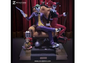 Dioram: Joker, Harley and monkey bomb
