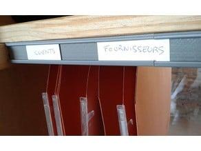 Hanging Folder Rails