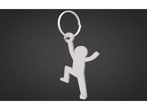 Thin man key chain