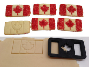 #CanadaDay Canadian Flag Shortbread Cookie Cutter