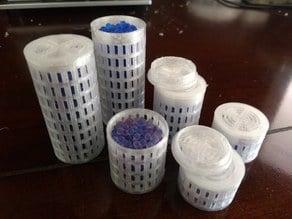 Round Silica Gel Container