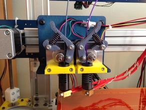 Ordbot Hadron dual extruder mount