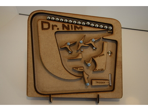 """Laser cut (3 mm) version of """"The Amazing Dr. Nim Scale Model """""""