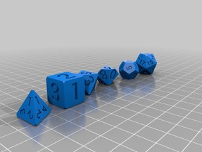 Dice Set D7, simple with cut corners
