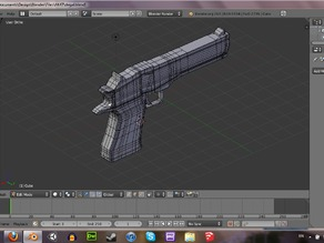 Printable Desert Eagle Pistol