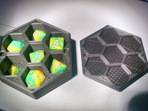 Magnetic Polyhedral Dice Holder / Tray