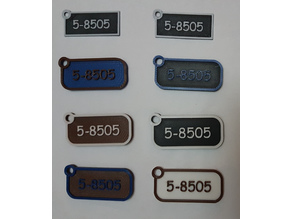 Customizable key tag