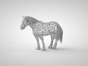 Wire Mesh Horse 5 inches