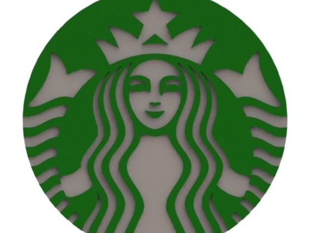 starbucks logo by bjornnijen   thingiverse