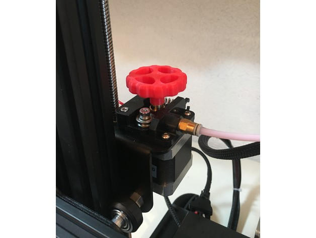 Creality Ender 3 / Ender 3 Pro / Ender 5 / Cr-10 Extruder Knob by techboner